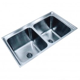 SL Double Deep Bowl Kitchen Sink Stainless Steel