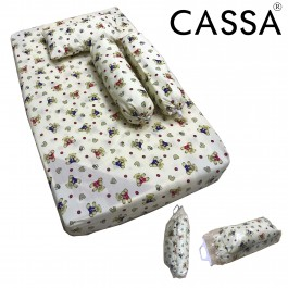 Cassa Sunpillo 98x55cm Baby Mattress Cotton Fabric BedSheet Only (Free one unit Pillow,2 unit Bolster and one Carrier Bag for the whole set)