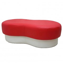 Bean Sofa Bench Chair (Red White)