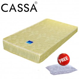 Cassa S44 Rubber Foam thick 7inch Single Mattress with Free Pillow