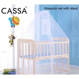 Cassa Baby Crib Mosquito Net For Infants Portable Newborn Cot