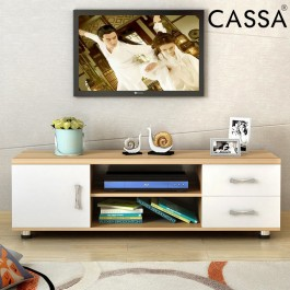 Cassa Harmes 4 Feet TV Cabinet Entertaiment Unit Scandinavian-inspired Furniture(Plain Maple)