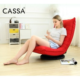 Cassa Relaxing Folding Sofa Chaise Lounge Chair Mitsofa (Red) - Washable Fabric