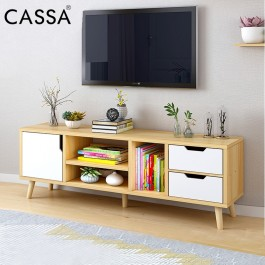 [UPGRADED HEAVY DUTY + DEPTH 30CM] Cassa Advanced SOLID ROSI 4 Feet TV Cabinet Entertaiment Unit Scandinavian-inspired