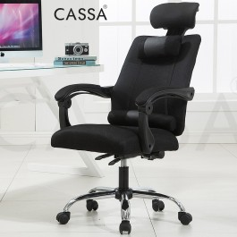 Cassa Monza Ergonomic Style Function Adjustable Reclineable Executive Office Chair (Grey/Black) + (Without Legrest/With Legrest)