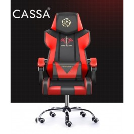 Cassa Vigo Back Ergonomic Racing Style Adjustable Gaming Executive Office Chair  Black Red