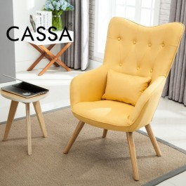 Cassa Scandinavian Nordic Serena Arm Wng Chair sofa Fabric 1seater only