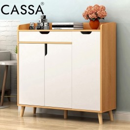 Cassa Lavio 3 Feet Shoes Cabinet Scandinavian-inspired (3 Doors + 1 Drawer)