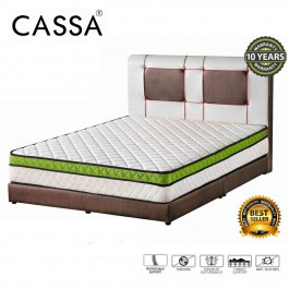Cassa Spina Series 10 inch Euro Top Foam Padding + Coconut Fiber & Bonell Spring Hybrid Mattress (10 Years Warranty)