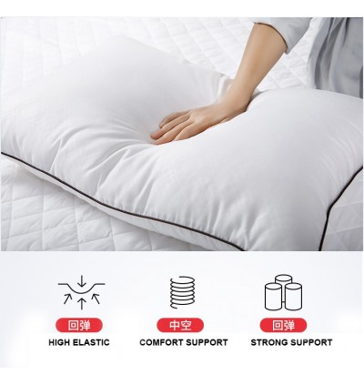 5 STAR Cassa Hilton High Elastic Compression Microfiber Polyester Soft Feel Pillow 48x74CM With High Quality Soft Smooth Snow White Fabric (Machine Washable Pillow) - SET OF 2 UNIT