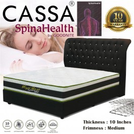 Cassa Royal Lavish Spinahealth By Goodnite 10 Inches Queen Posture Spring Euro Top Mattress Only (10 Years Warranty)