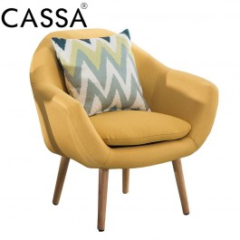 Cassa Scandinavian Nordic Sophia Arm Wing Chair sofa Fabric 1seater only