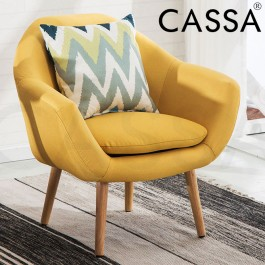 Cassa Scandinavian Nordic Sophia Arm Wing Chair Sofa Fabric 1 Seater only
