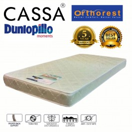 Cassa Dunlopillo United Kingdom (UK) Othorest Seagull Single 5 Inch Thick High Density Rebonded Foam Mattress (5 Years Warranty)