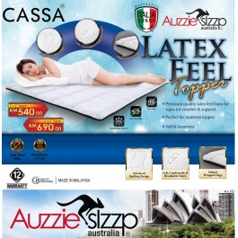 Cassa Aussie Sleep Italia Sunno Latex Feel Mattress Topper