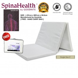 [FREE HAND CARRY BAG] Cassa Goodnite SpinaHealth 2 Inches Thick Single Foldable Latex Feel Premium Quality Rebond Mattress