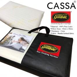 Cassa Goodnite 100% Pure LATEX Pillow with Anti Bacterial Luxury Bamboo Knitted Fabric Pillow  (Bantal LATEX)