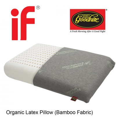 [5 Years Warranty] Cassa Goodnite Organic LATEX Pillow with Anti Bacterial Luxury Bamboo Charcoal Knitted Fabric (100% Pure Natural Latex + Bamboo Charcoal Knitted Fabric)