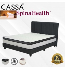 """Cassa Spinalhealth by Goodnite Thick 10"""" Posture Spring Queen Mattress Only 10 Year Warranty with Free 2 Pillows"""
