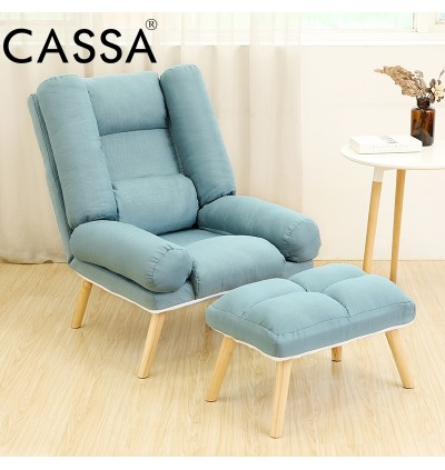 Cassa Single Lazy Suzuki Sofa Tatami Chair Adjustable Backrest Lounge Chair