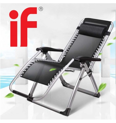 Cassa Swift Cool Ventilated Folding Portable Office Napping Sleeping Balcony Elderly Couch Leisure Beach Attendant Flexible Indoor and Outdoor Relaxing Lazy Chair