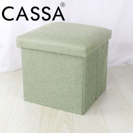 Cassa Home Living Foldable Storage Box Mibox Ottoman 30x30x30cm Sofa Cushion Footrest Stool
