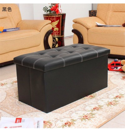 Cassa Home Living Foldable Storage Box Mibox Ottoman 76x38x38cm Sofa Cushion Footrest Stool