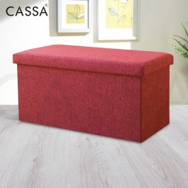Cassa Home Living Foldable Storage Box Long box Ottoman 76x38x38cm Sofa Cushion Footrest Stool