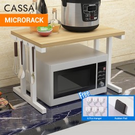Cassa Micro Zico TIga 2Tiers Microwave Oven Rice Cooker Rack Kitchen Dapur shelf Organizer Storage