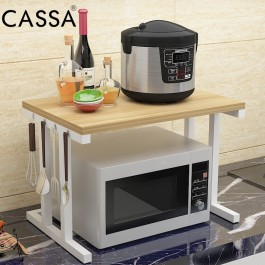 Cassa Micro 2Tiers Microwave Oven Rice Cooker Rack Kitchen Dapur shelf Organizer Storage