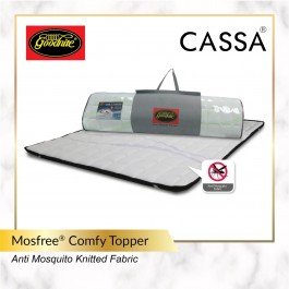 Goodnite Mosfree®Anti Mosquito Knitted Fabric (Single/Super Single/Queen/King) Comfy Mattress Topper/Pad Tilam