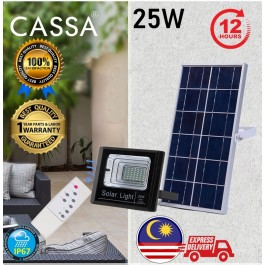 Cassa Hi Quality Led Solar Spotlight Flood Light 25W 10-20Hours 1Year Warranty