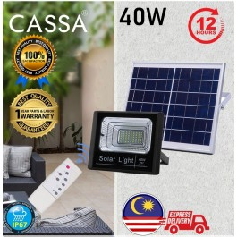 Cassa Hi Quality Led Solar Spotlight Flood Light 40W 10-20Hours 1Year Warranty