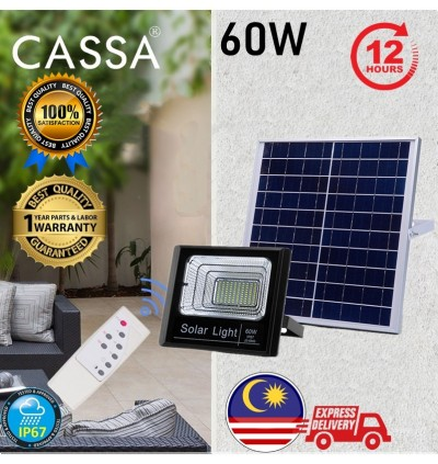 Cassa Hi Quality Led Solar Spotlight Flood Light 60W 10-20Hours 1Year Warranty