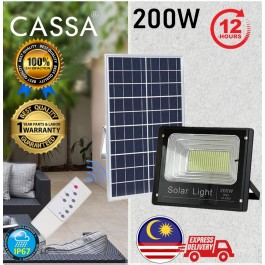 Cassa Hi Quality Led Solar Spotlight Flood Light 200W 10-20Hours 1Year Warranty