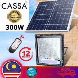 Cassa Hi Quality (Led Solar Modern Flat Spotlight) Flood Light 300W (JD7300W) 10-20Hours 1Year Warranty
