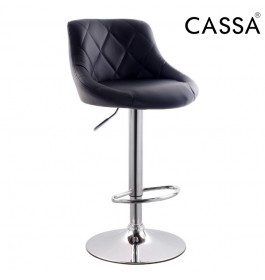 Cassa Modeno Bar Stools 360 Degree Swivel Adjustable (Black) 1 unit