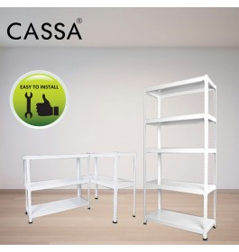 Cassa Heavy Duty Solid 5 Tier Steel Boltless Storage Rack Living Room Display Warehouse  Steel Shelve Rack Warehouse