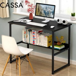 Cassa Simple Computer Desk PC Laptop Table Workstation Study Home Office Furniture (Black/Maple/White Purplish)