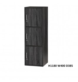 Cassa SU300FL 3 Doors Utility Shelf / Storage Cabinet / Filing Cabinet/ Locker with Lock and Keys for Every Compartment