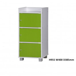 Cassa SU100 3 Compartments Utility Shelf / Book Shelf / File Cabinet With Doors