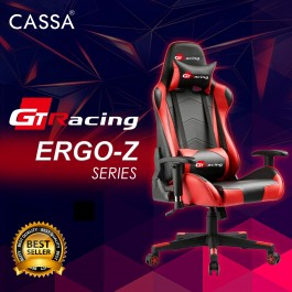 Cassa GT-Racing Ergo-Z Hego Back Ergonomic Racing Style Armrest Height Adjustable Gaming Executive Office Chair