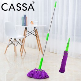 Cassa Home Cleaning Magic Twist Mop retractable Hands Free Pull and Twist Drying Lazy Mop Lantai