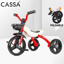 Cassa Folding Tricycle Kid Children Bike Bicycle Baby Toy Lightweight Portable Car Basikal
