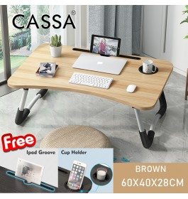Cassa Foldable Table Anti-slip Bed Laptop Table Notebook Table Portable Computer Desk Meja Lipat