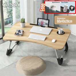 Cassa Toyo Foldable Table Anti-slip Bed Laptop Table Notebook Tablet Table Portable Computer Desk Meja Lipat